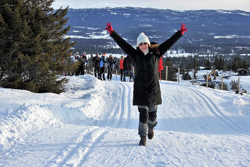 Skistafett er oppskattet tradisjon på KROMs vinterkonferanse.<br /> Foto: Astrid Renland